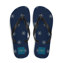 Load image into Gallery viewer, Winter Snowflakes Flip-Flops