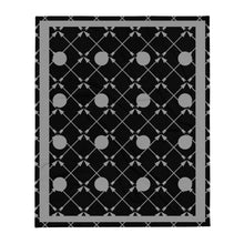 Load image into Gallery viewer, Friendship Arrows Throw Blanket 50 x 60 inches Black Base, Grey Accents
