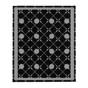 Friendship Arrows Throw Blanket 50 x 60 inches Black Base, Grey Accents