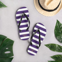 Load image into Gallery viewer, Purple Stripes Flip-Flops