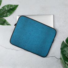 Load image into Gallery viewer, Faux Blue Tweed Laptop Sleeve