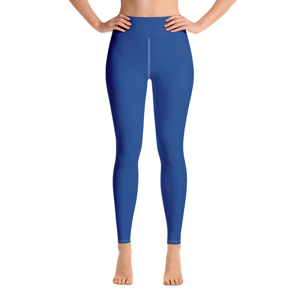 Blue Long Yoga Leggings