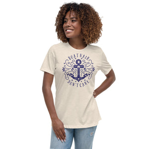 "Women's Relaxed Boat/Nautical T-Shirt "" Bella Canvas 6400"