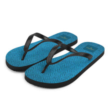 Load image into Gallery viewer, Faux Blue Tweed Flip-Flops