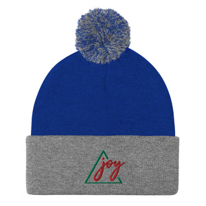 Joy Pom-Pom EMBROIDERED Beanie