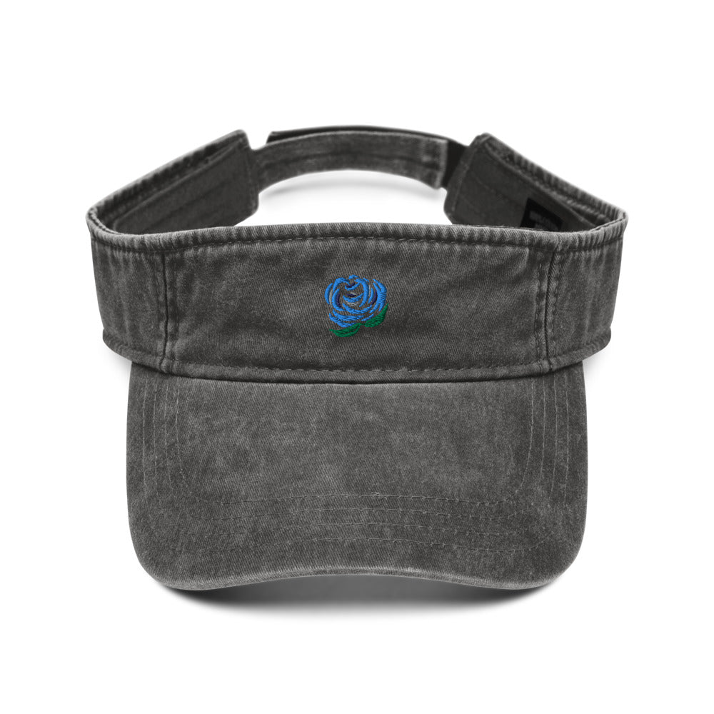 Blue Rose Denim Visor In Three Color Choices