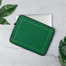 "Load image into Gallery viewer, Green#1 Laptop Sleeve With Our ""Simply Elegant Green"" Border"