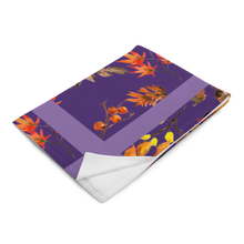 Load image into Gallery viewer, Autumn Purple Throw Blanket 50x60