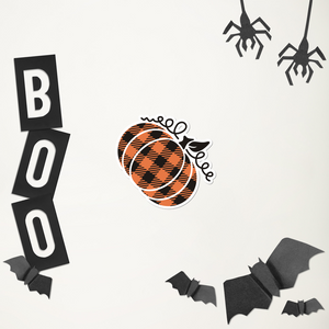 Large Plaid Pumpkin Sticker