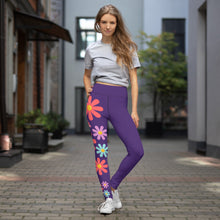 Load image into Gallery viewer, Floral Fantasy Purple Yoga Leggings