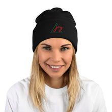 Load image into Gallery viewer, Joy Pom-Pom EMBROIDERED Beanie