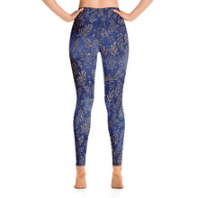 Load image into Gallery viewer, Women's Cerulean Gold Leaf Yoga Leggings