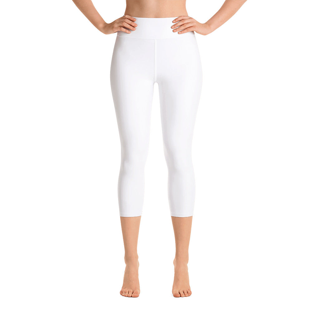 White Yoga Capri Leggings