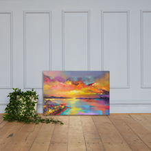 Load image into Gallery viewer, Sunrise Sunset Canvas Wall Art 36x24 Inches