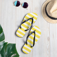 Load image into Gallery viewer, Yellow Stripes Flip-Flops