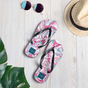 Pink Swirls *Sublimation Flip-Flops