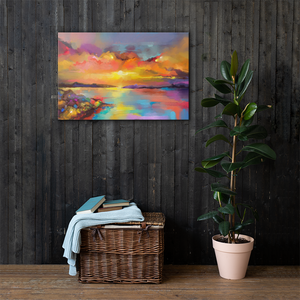 Sunrise Sunset Canvas Wall Art 36x24 Inches