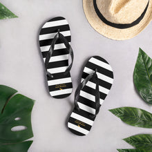 Load image into Gallery viewer, Black Stripes Flip-Flops