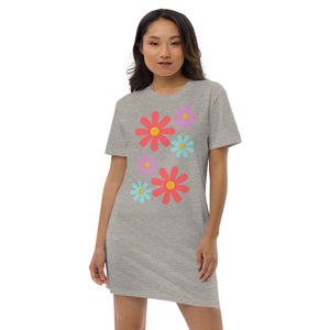 Floral Fantasy Organic Cotton T-Shirt Dress
