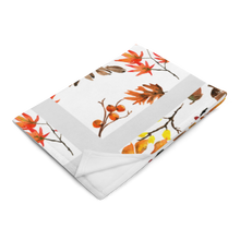 Load image into Gallery viewer, Autumn White Throw Blanket 50x60 Inches Machine Washable SOFT Polyester