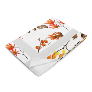 Autumn White Throw Blanket 50x60 Inches Machine Washable SOFT Polyester