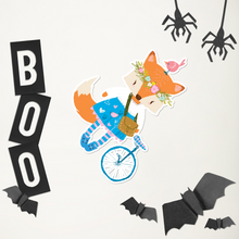 Load image into Gallery viewer, Large Fox With Unicycle Bubble-Free Kiss Cut Sticker