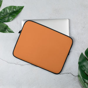Pumpkin Orange Laptop Sleeve
