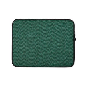 Faux Green Tweed Laptop Sleeve