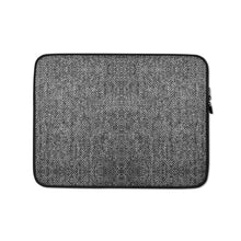 Load image into Gallery viewer, Faux Grey Tweed Laptop Sleeve