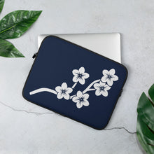 Load image into Gallery viewer, White Navy Sakura Branch Flowers Laptop Sleeve
