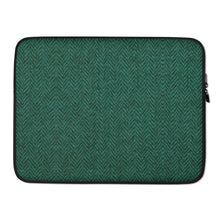 Load image into Gallery viewer, Faux Green Tweed Laptop Sleeve