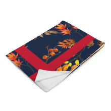 Load image into Gallery viewer, Autumn Navy Red Throw Blanket 50x60 Machine Washable
