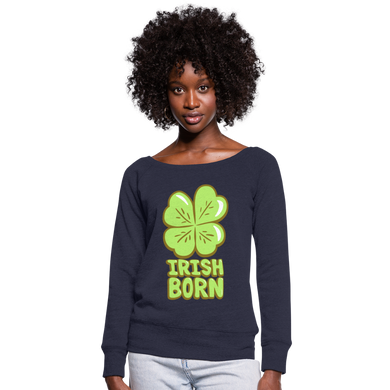 Irish Born - Women's Wideneck Sweatshirt - melange navy
