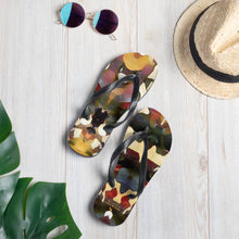 Load image into Gallery viewer, Tree Bark Camo Flip Flops