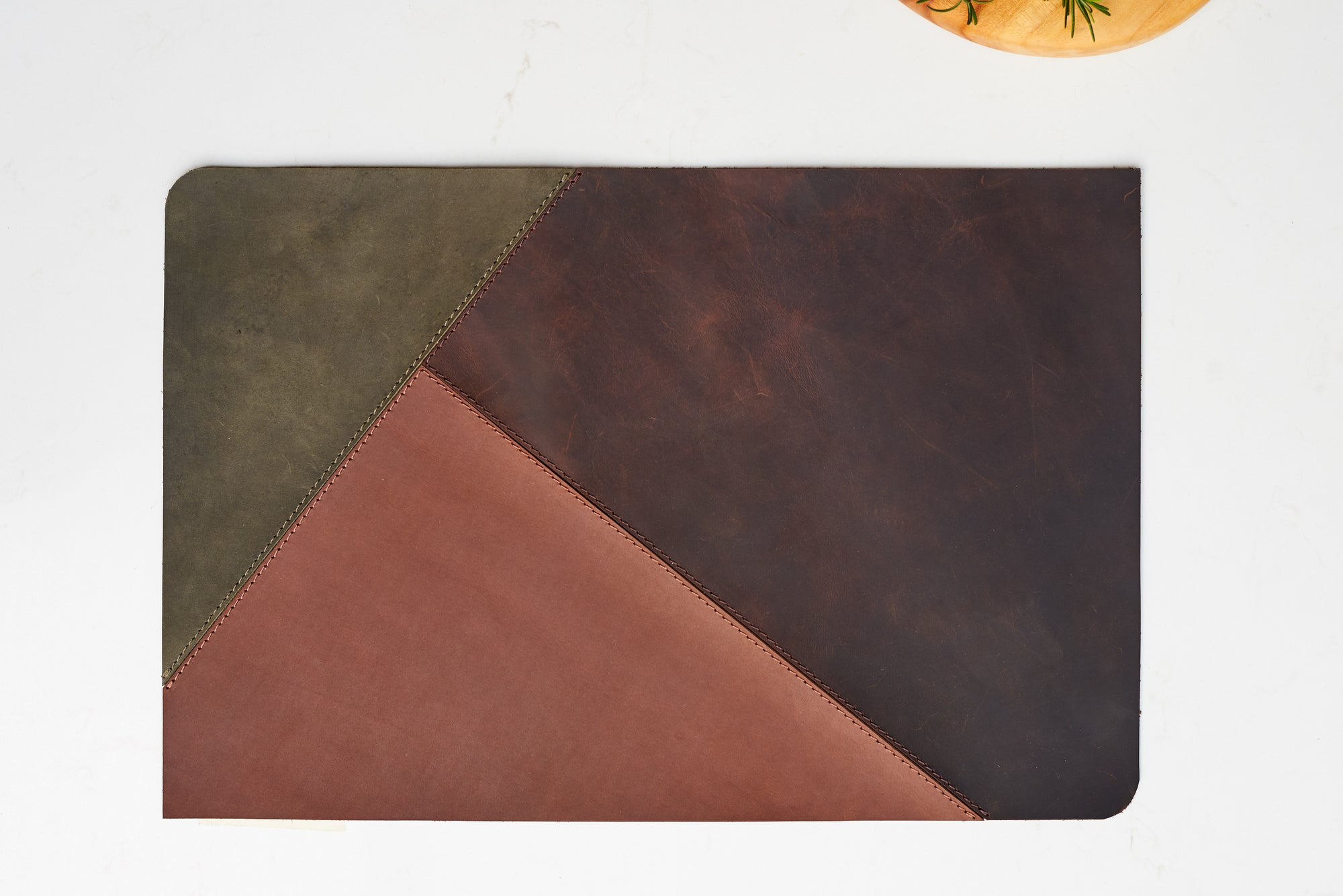Three. Leather Placemat Set Forest by Modoun Home Decor