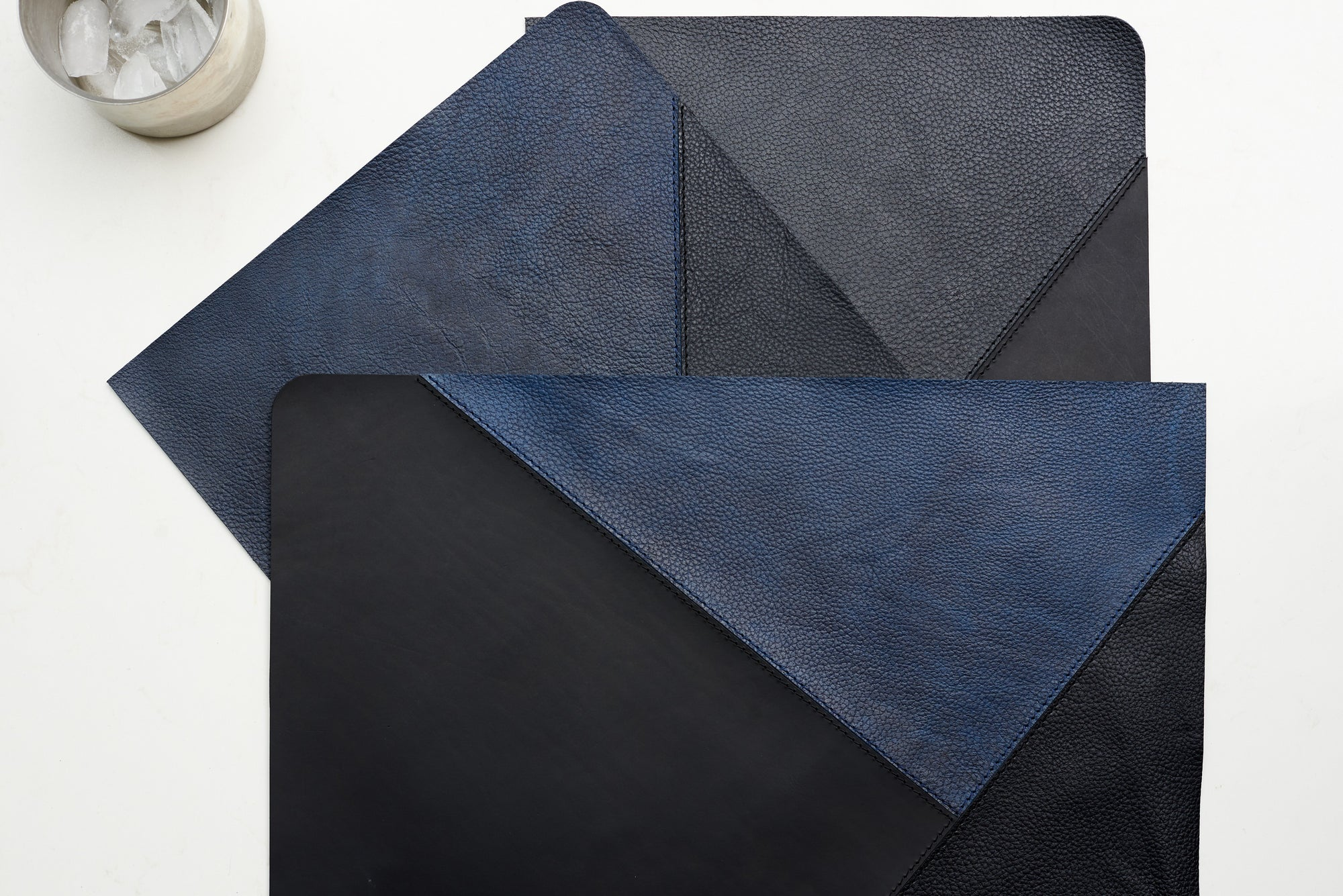 Movement. Leather Placemat Set Midnight by Modoun Home Decor