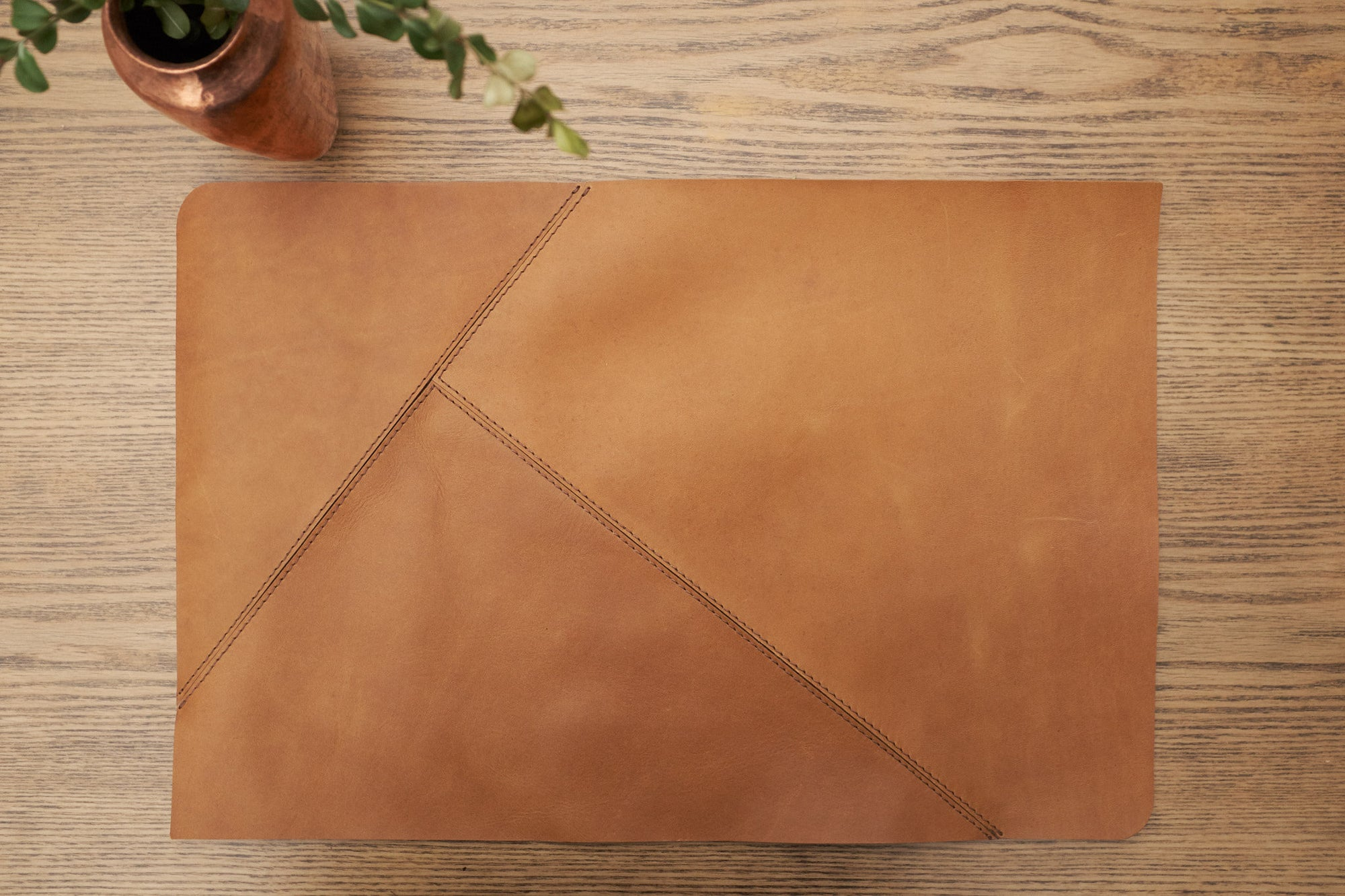 Cover. Leather Placemat Set Tan by Modoun Home Decor