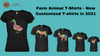 Farm Animal T-Shirts - New Customized T-shirts in 2021