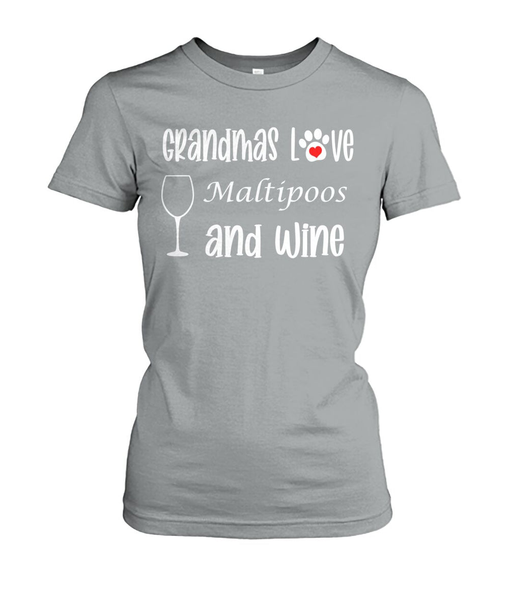 Grandmas Love Maltipoos and Wine