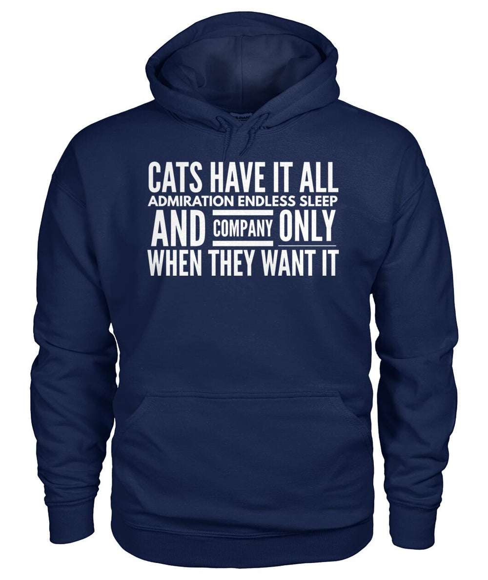 Cats Have it All Admiration Endless Sleep and Company Only When They Want It
