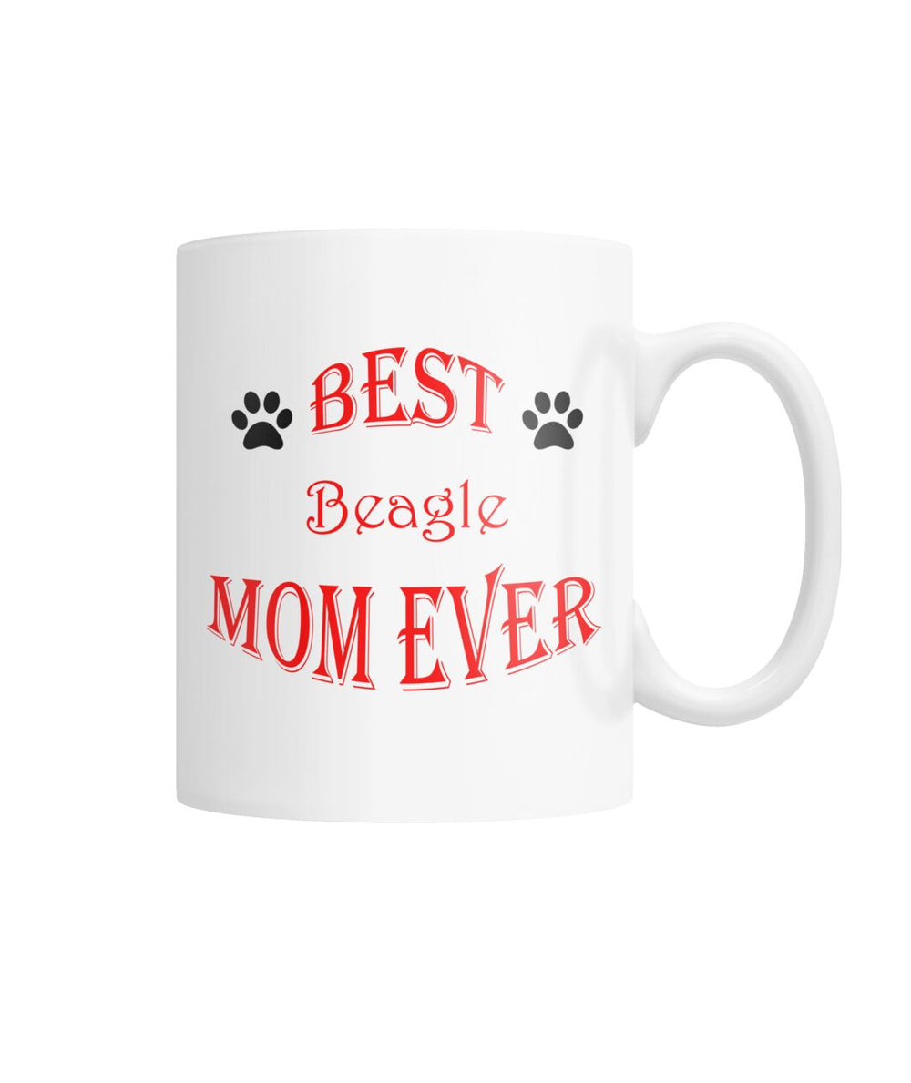 Best Beagle Mom Ever White Coffee Mug