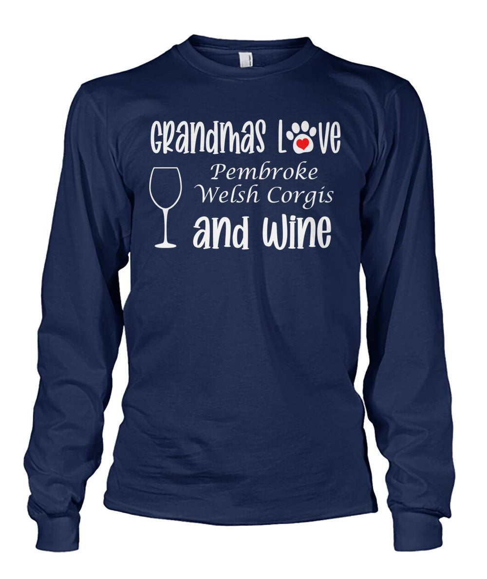 Grandmas Love Pembroke Welsh Corgis and Wine