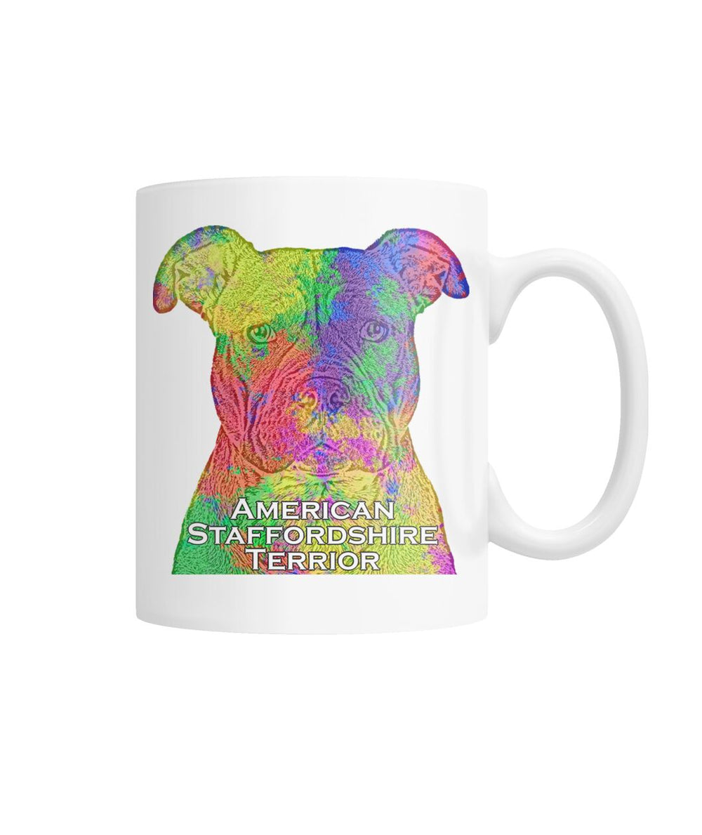 American Staffordshire Terrier Watercolor Mug