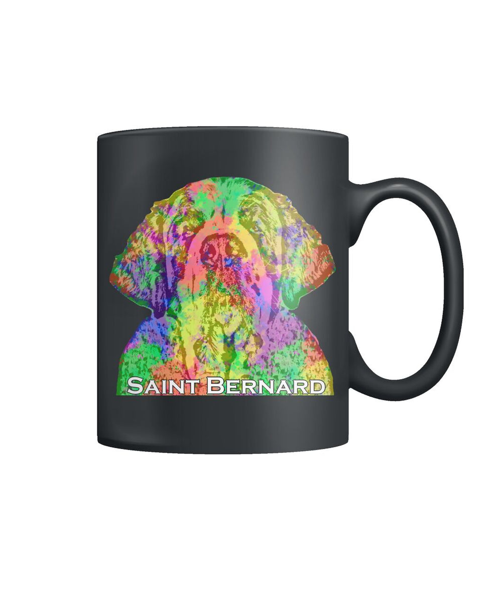 Saint Bernard Watercolor Mug