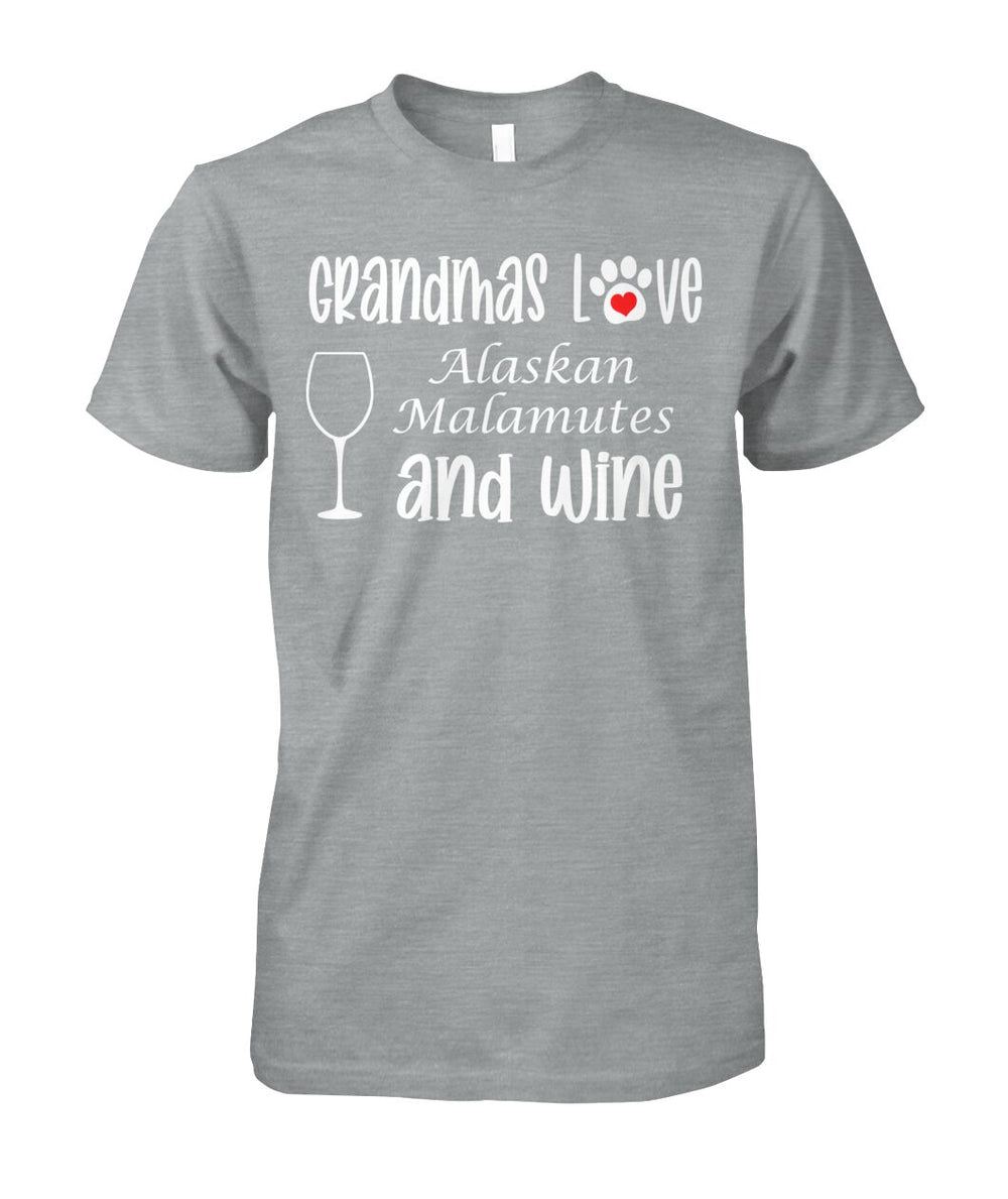 Grandmas Love Alaskan Malamutes and Wine