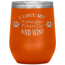 I Love My Norwegian Forest Cat and Wine