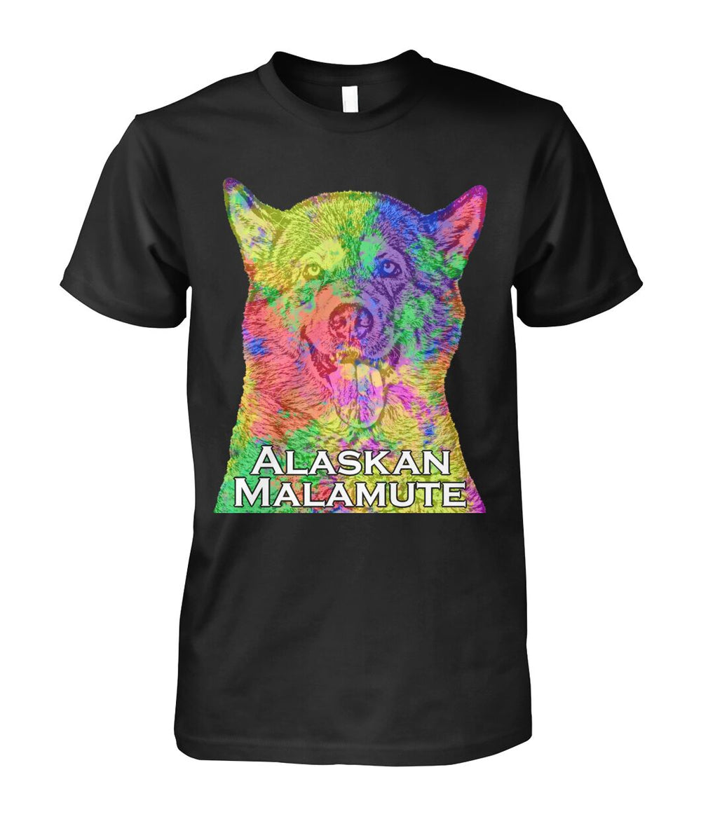 Alaskan Malamute Watercolor Men's T-Shirt, Unisex T-Shirt, Long Sleeve Shirt, Hoodie, Women's Crew Neck, Women's V-Neck