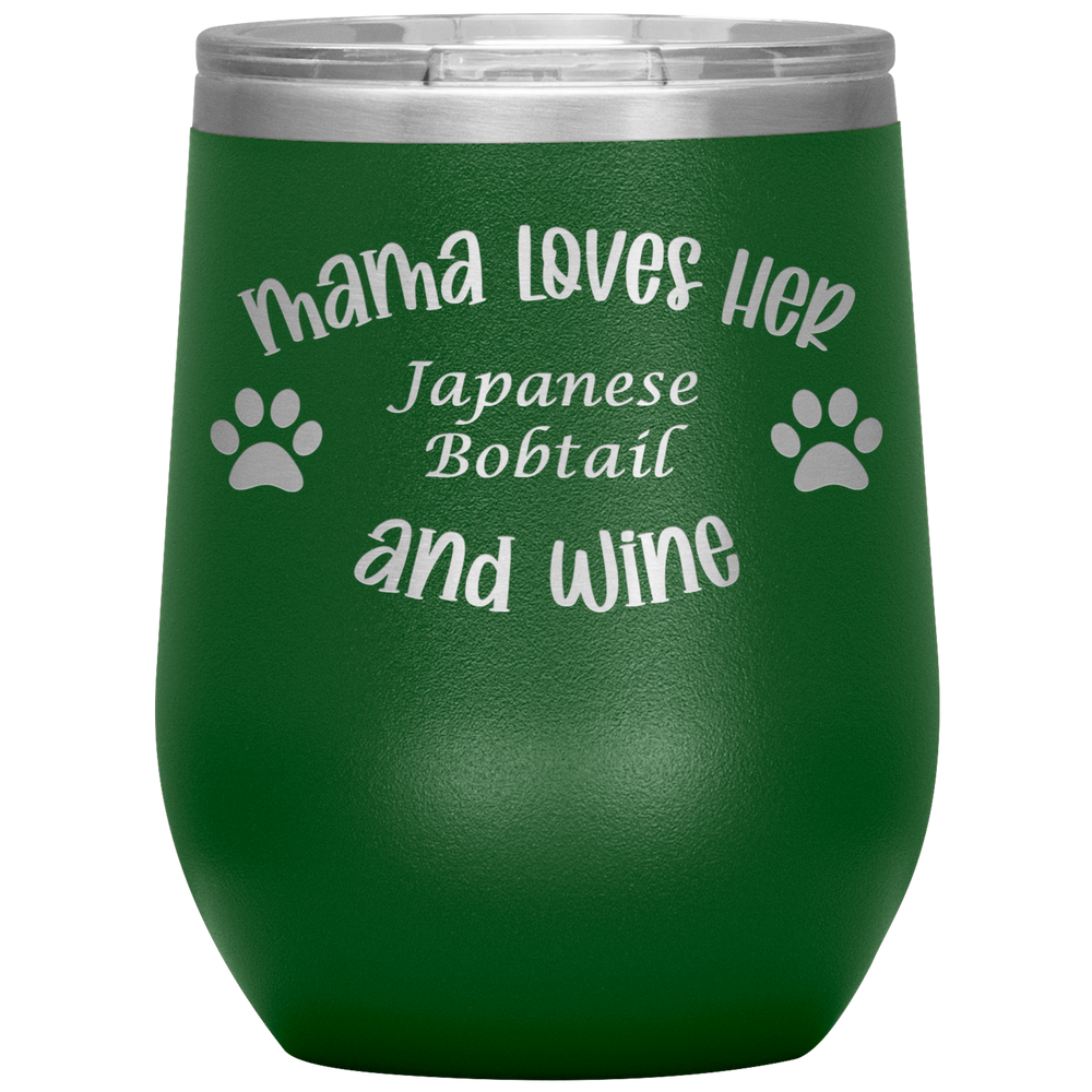 Mama Loves Her Japanese Bobtail and Wine