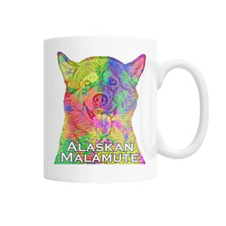 Alaskan Malamute Watercolor Mug