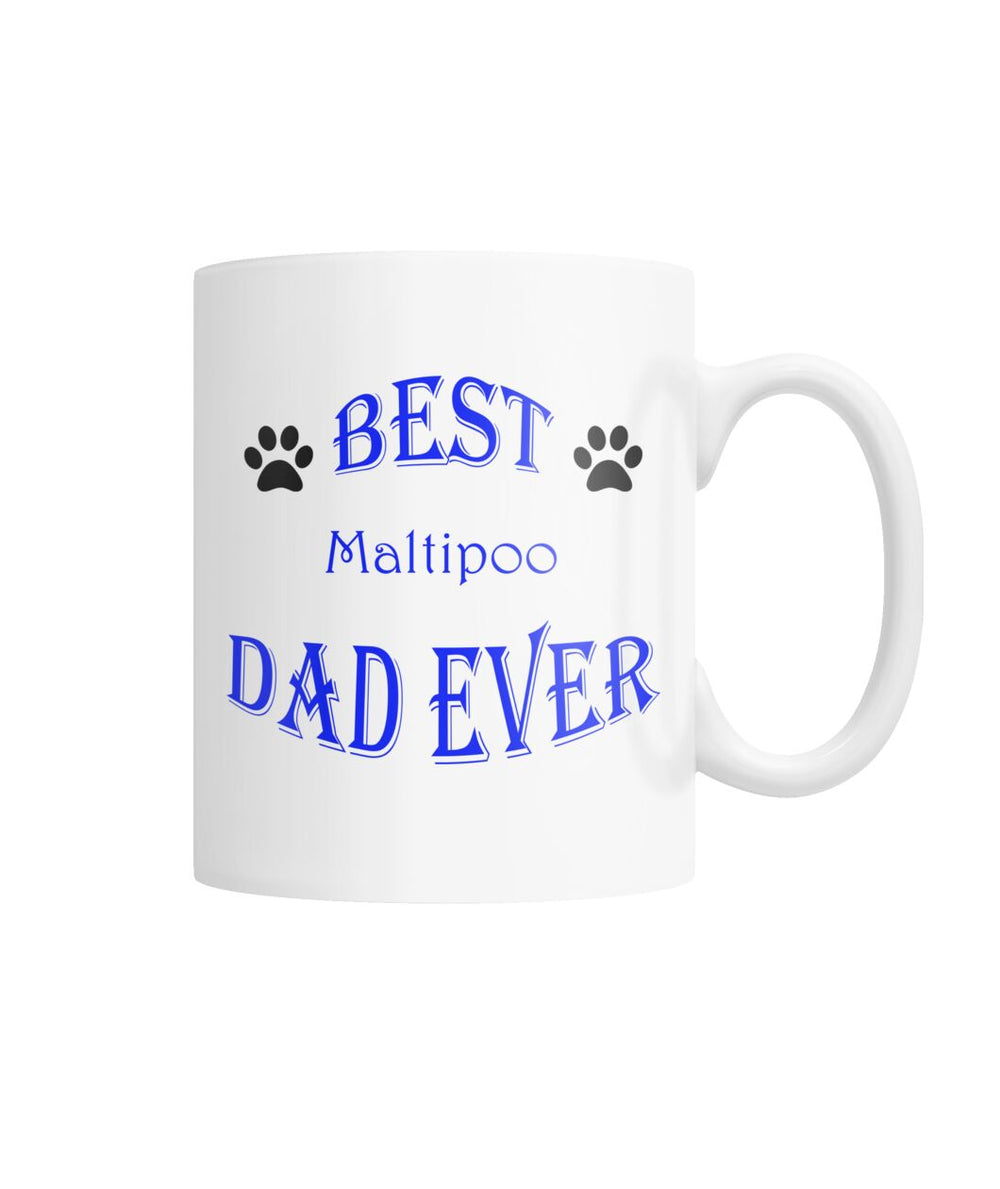 Best Maltipoo Dad Ever White Coffee Mug